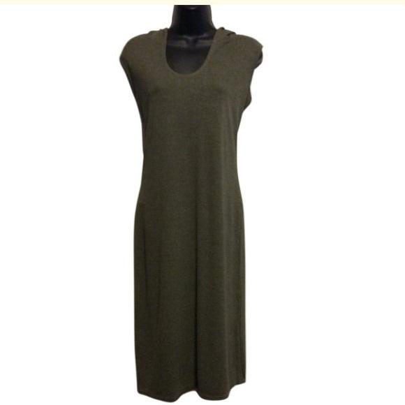Max Studio Dresses & Skirts - Max Studio olive green Hoody Dress